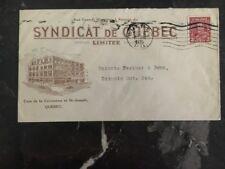 1935 Quebec Canada syndicate Commercial Cover Toronto