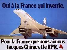 RALLY DI PROPAGANDA REPUBBLICA PARTE LA FRANCIA JACQUES Chirac Concorde posterbb 6856b