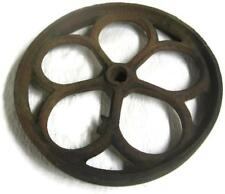 Cast Iron 12.5 In. Spoked Wheel Factory Cart Coffee Table - Old Industrial Part