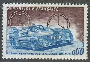France 1973 MNH Mi 1838 Sc 1376 Racing Car.Clocks.Le Mans **