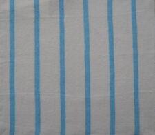 DESIGNERS GUILD Brera Rigato Stripes Turquoise/white  new remnant
