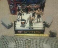WCW WWF Toy Wresting Ring & Wrestler Figure Lot Collection Jakks Hulk Hogan