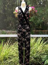 NWT Caché Lace Jumpsuit Size 4 Color Black