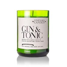 GIN AND TONIC SCENTED VINEYARD CANDLE REPURPOSED WINE / CHAMPAGNE BOTTLE - NEW