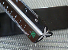 RUMOLD ARCHITECT 1 Präzisions- Dreikantmaßstab Lineal 300 mm schwarz mit Alukern