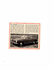 1965 FIAT 1500 COUPE ~ ORIGINAL SMALLER NEW CAR PREVIEW ARTICLE / AD