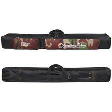 Waterproof 2-Layer Fishing Rod Bag Pole Case Carrier Nylon Travel Tackle Storage