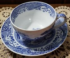 Spode Blue Room Collection ITALIAN  Joke Cup Oversized Cup & Saucer