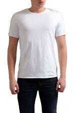 Just Cavalli Men's White Beads Decorated Crewneck T-Shirt US M IT 50