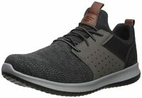 Skechers Mens Delson-Camden Fabric Low Top Lace Up, Black/Grey, Size 10.5 nX73