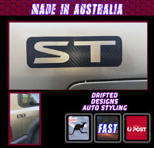 4WD ST DECAL BLACK CARBON FINISH X2 SUITS 4X4  PATROL JDM OFFROAD WINCH
