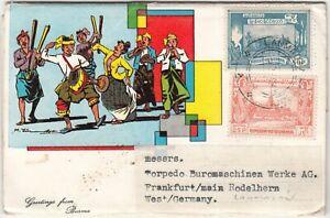 Burma: 8 Postcard Tree: Tin Brothers Ltd, Rangoon, to Frankfurt, Dec 1963