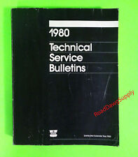 1980 Chrysler Dodge Plymouth Technical Bulletins Service Manual Book Car Truck