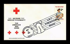 DR JIM STAMPS US AMERICAN RED CROSS CENTENNIAL FIRST DAY ISSUE COVER