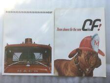 2X 1967 MACK TRUCK FIRETRUCK DEALER PAMPHLET BROCHURE CHIEF BULLDOG FREE SHIP
