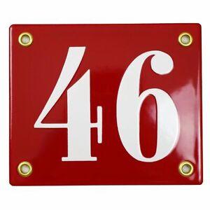 Porcelain address plaque 4x4.7″ customisable handmade enamel house number sign