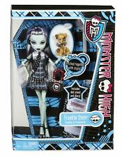 Poupée MONSTER HIGH Frankie Stein Journal Diary Basic 1 + Watzit 2012 NEUVE