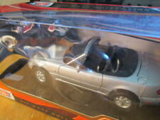 Silver 1991 MAZDA MX-5 MIATA CONVERTIBLE SCALE 1/24 - NEW IN THE BOX!