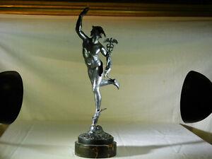 c1900 Bronze German Sculpture Statue of Mercury-Hermes Commemorative Plate