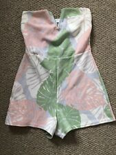 Missguided Ladies Floral Playsuit Size 8