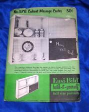 UNUSED VTG 1956 EASI BILD DIY WOODWORKING CRAFT PATTERN Cabinet Message Center