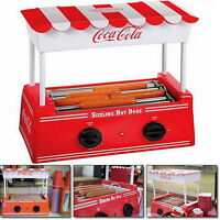 Vintage Look Hot Dog Roller Grill Mini Electric Hotdog Cooker Machine Bun Warmer