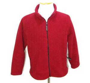 BLACK DIAMOND Men's (Size Large) Red Full Zip Long Sleeve Fleece Ski Jacket Coat