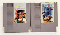 Nintendo NES Contra and Super C Game Cartridges Only Untested