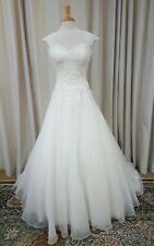 NEW Justin Alexander Sincerity Bridal Ball Gown Lace 3809 Wedding Dress Ivory 14