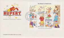 Unaddressed Guernsey FDC Cover 1993 Rupert Bear & Frends Sheet 10% OFF 5