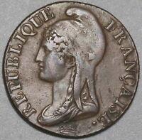 1795-A France 5 centimes AN 4-A XF Coin (20051101R)