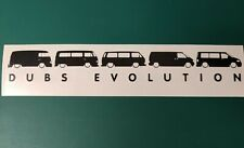 VW Dub Evolution logo Split / Bay / T25 / T4 / T5 - Vinyl Decal Sticker
