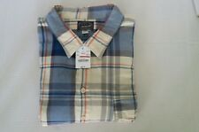 J.CREW Men's Flannel Long Sleeve Plaid Shirt Blue, white, Red And Gray XXL