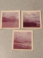 Lot Of 3 Vintage 1962 Photos Photographs Shipwreck Ashinti Palm Naples Italy