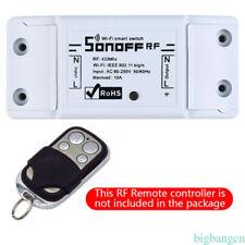 Sonoff Smart WiFi Wireless Switch Module+433mhz RF Remote Receiver Control Top