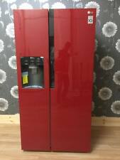LG American-Style Fridge Freezer Cranberry Red plumbed with ice and water