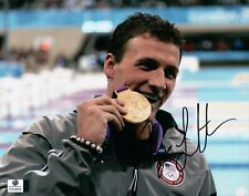 Ryan Lochte Signed Autographed 8X10 Photo Swimmer Biting Gold Medal GV849628
