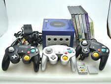 Nintendo Gamecube Console System DOL-001 Controller 3 pcs 5games Free Loader Set