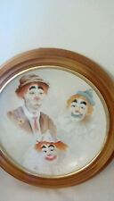Mounted Clown Plate Rare