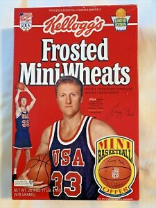 Larry Bird Frosted Mini-Wheats Cereal Box Collector's Package 1992 Dream Team