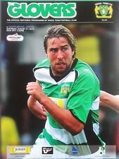 Yeovil Town v Hartlepool United NPower League One 21/8/2010 MINT VERY RARE
