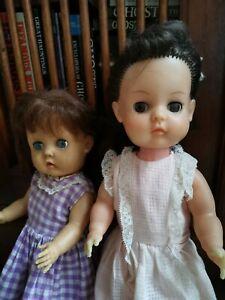 x2 Vintage 1960's Rubber Dolls