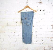 "Vintage Carhartt Mens Washed Denim Straight Leg Jeans Workwear Trousers 36""x34"""