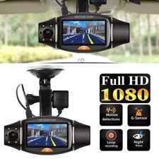 1080P HD Dual Lens 140° Dash Cam Car DVR Video Recorder Camera Front and Rear UK