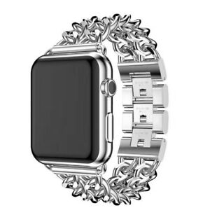 Cowboy Chain Stainless Steel For Apple Watch Band Strap 38/42/40/44mm Bracelet