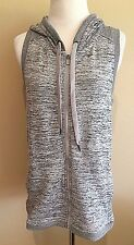 NWT Women's Gray Heather Full Zip Active Life Hooded Vest XL