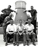 ORIGINAL MERCURY SEVEN 7 ASTRONAUTS - 8X10 NASA PHOTO (AA-703)
