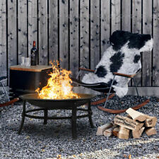 26' Fire Pits Outdoor Wood Burning Steel Bbq Grill Firepit Bowl