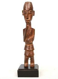 Art Africain - Ancien Petit Fétiche Fetish Lobi - Socle sur Mesure - 18,5 Cms ++