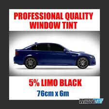 5% LIMO BLACK PRO CAR WINDOW TINT FILM ROLL 76CMx6M